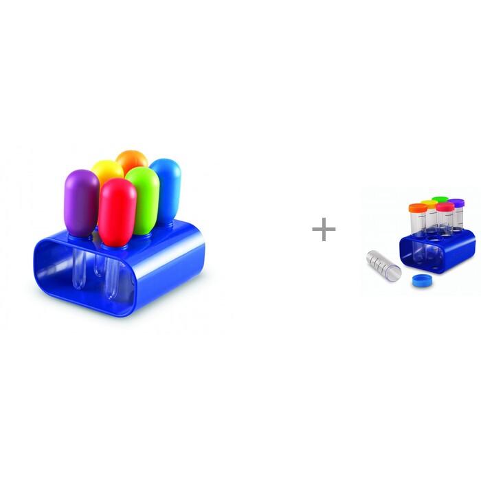 Наборы для опытов и экспериментов Learning Resources Моя первая лаборатория игра Пипетки с подставкой и игра Колбы с подставкой