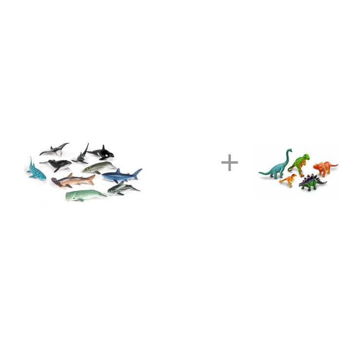 Игровые фигурки Learning Resources Набор фигурок Обитатели океана и Набор фигурок Эра динозавров Часть 2