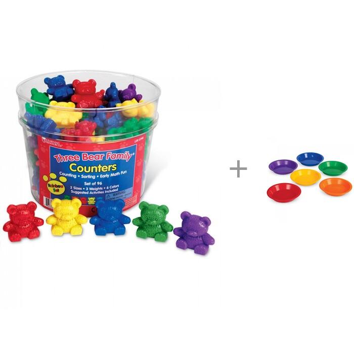 Игровые фигурки Learning Resources Игровой набор фигурок Семейка медведей и Цветные тарелки для канцелярских товаров
