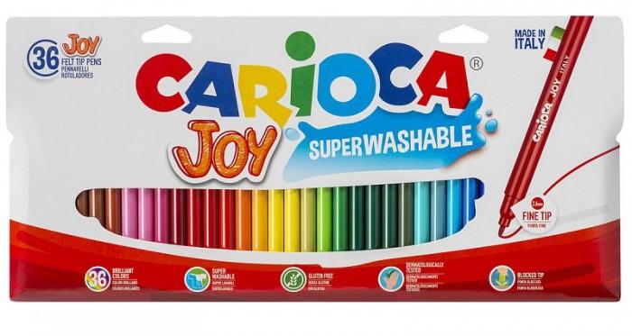 Фломастеры Carioca Набор фломастеров Joy 36 цветов в картонной коробке с европодвесом набор фломастеров carioca acquarell 12 цв в картонной коробке с европодвесом
