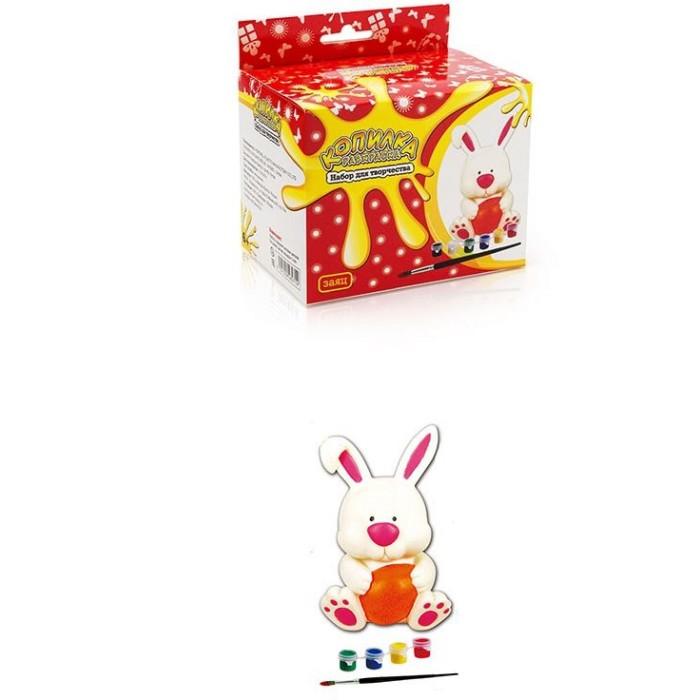 Наборы для творчества Копилка-раскраска Набор для творчества Зайчик набор ободков котенок и зайчик вв2150