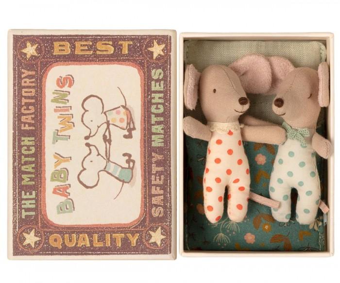 Мягкая игрушка Maileg Мышата двойняшки в коробке 16-1711-01