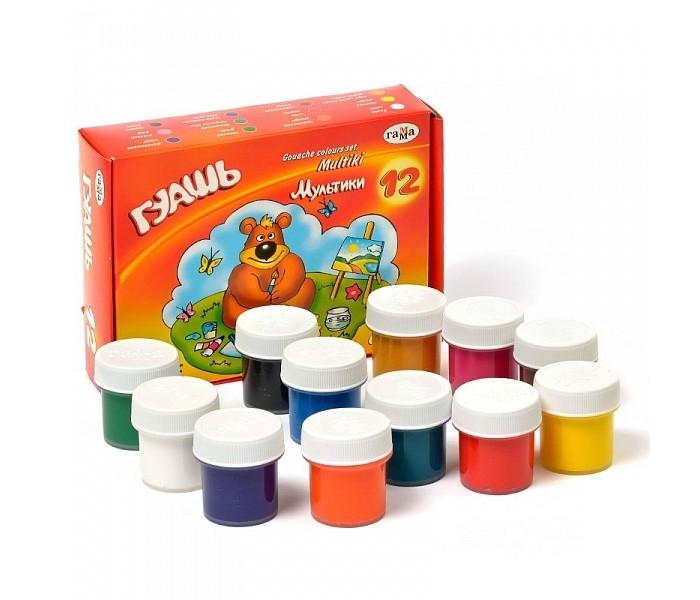 Краски Играем вместе Гуашь Мультики 12 цветов играем вместе пластилин в ведре тачки 7 цветов