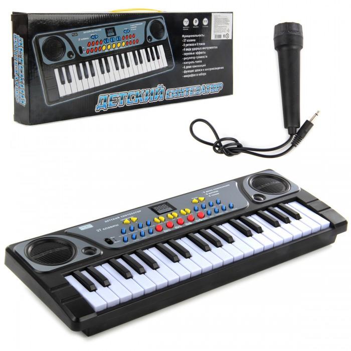 Картинка для Музыкальные инструменты Veld CO Синтезатор электронный 37 клавиш с микрофоном