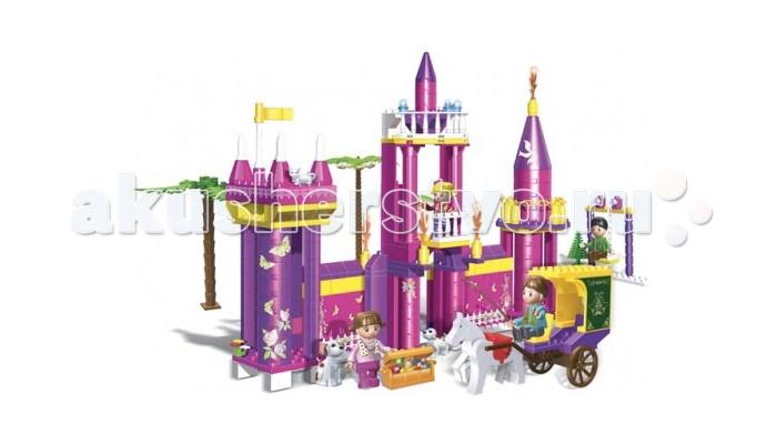 Конструктор BanBao Замок 420 деталейЗамок 420 деталейКонструктор Замок.  Данный игровой набор понравится любой малышке, которая сможет придумать множество разнообразных игр.   В наборе 420 деталей. Конструктор рекомендован для детей старше 5 лет.<br>