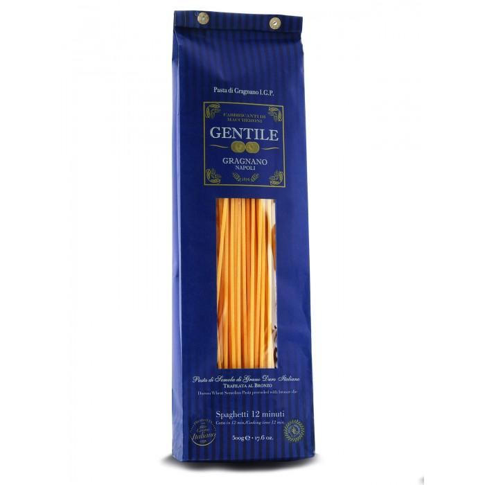 Макаронные изделия Gentile Макароны премиальные из твердых сортов пшеницы Спагетти 12 минут 500 г паста спагетти с перцем чили из твёрдых сортов пшеницы италия deluca 500 г