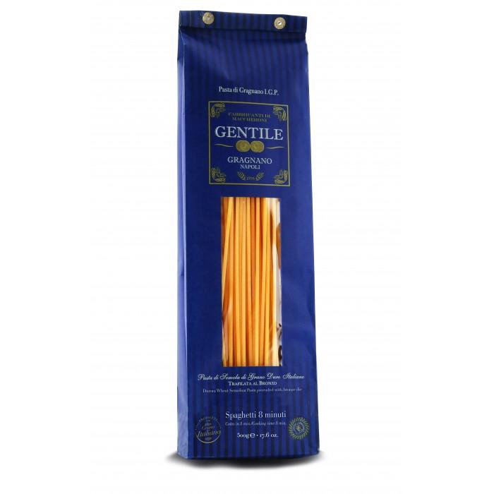 Макаронные изделия Gentile Макароны премиальные из твердых сортов пшеницы Спагетти 8 минут 500 г паста спагетти с перцем чили из твёрдых сортов пшеницы италия deluca 500 г