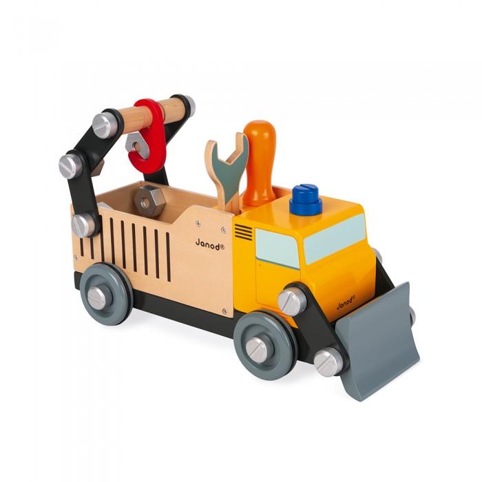 Купить Деревянные игрушки, Деревянная игрушка Janod Игрушка-конструктор Строительный автомобиль Brico'Kids