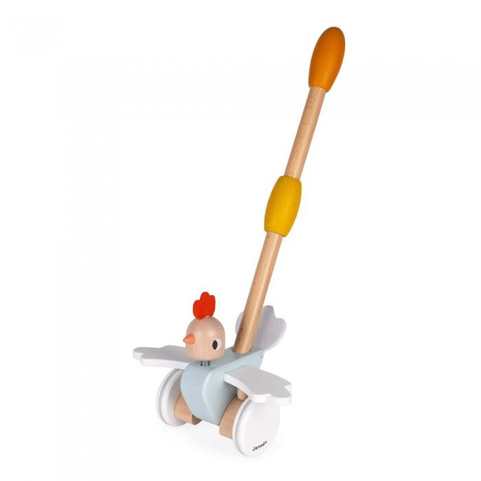 каталки игрушки janod на веревочке ксилофон sweet cocoon Каталки-игрушки Janod с ручкой Цыпленок