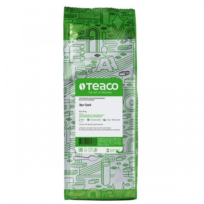 Фото - Чай Teaco Чай черный Эрл Грей 200 г чай grace чай черный с ароматом бергамота листовой граф грей 100 г