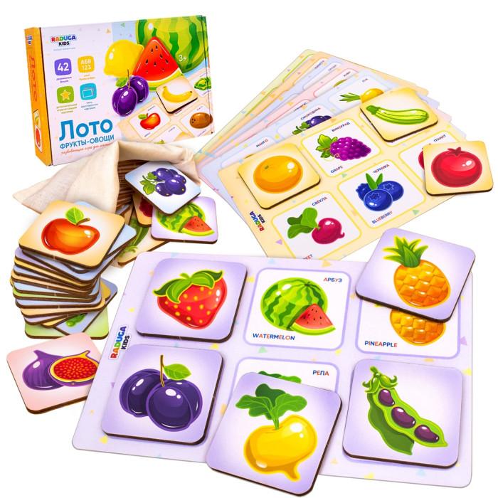 Деревянные игрушки Raduga Kids Лото Фрукты-Овощи-Ягоды настольная игра smiledecor сумка игралка овощи фрукты и ягоды