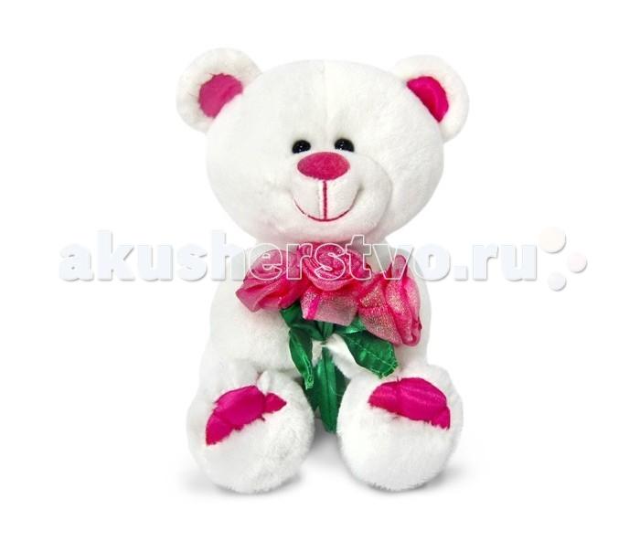 Мягкие игрушки Lava Медведь белый с сердцами музыкальный 24 см lava бобер музыкальный 19 см