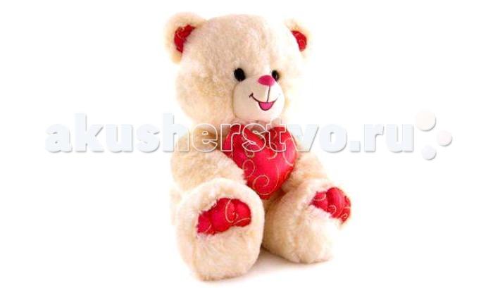 Мягкие игрушки Lava Медведь с малиновым сердцем музыкальный 26 см lava бобер музыкальный 19 см