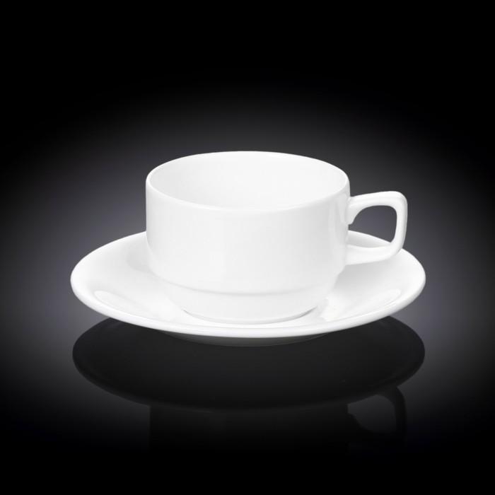 Посуда и инвентарь Wilmax Пара чайная 220 мл WL-993008 / 1C