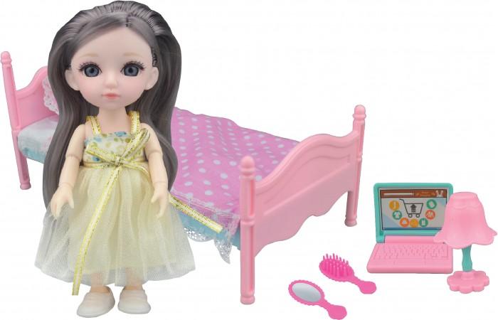 Funky Toys Игровой набор спальня и Кукла Малышка Лили 16 см