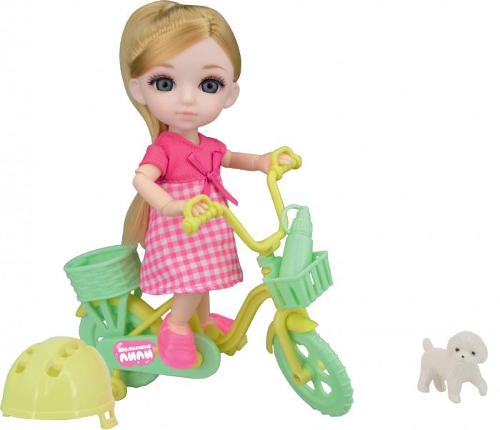 Funky Toys Игровой набор на велосипеде с собачкой и Кукла Малышка Лили 16 см