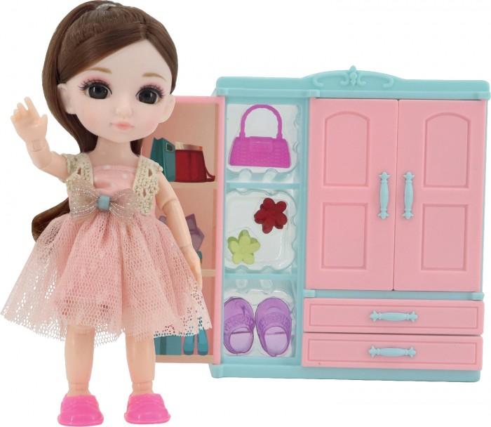 Funky Toys Игровой набор гардеробная и Кукла Малышка Лили 16 см