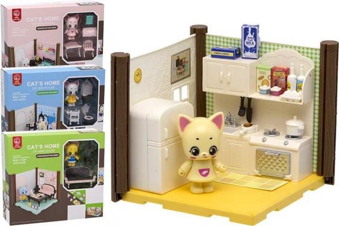 ХэппиЛенд Игровой набор Домик для куклы с мебелью и фигуркой