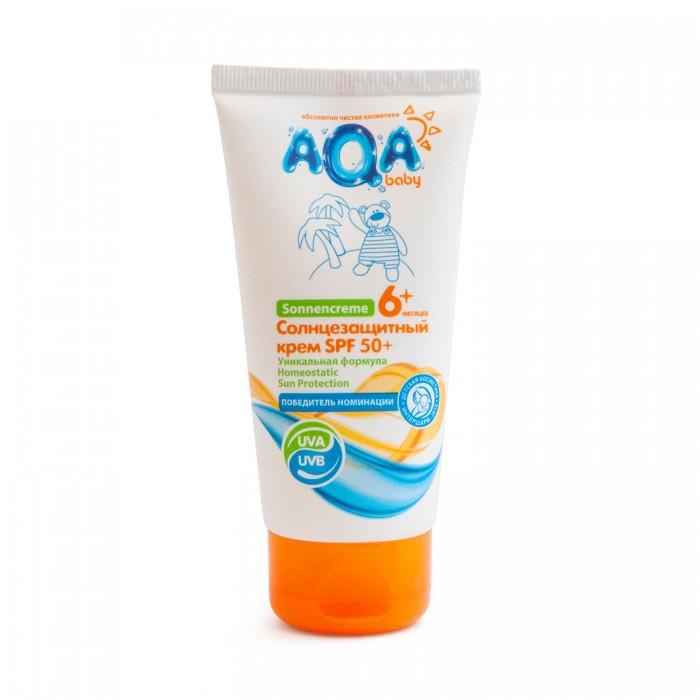 Солнцезащитные средства AQA baby Солнцезащитный крем SPF 50+ 75 мл косметика для новорожденных aqa baby защитный крем от мороза и непогоды 50 мл