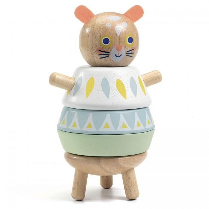 Купить Развивающие игрушки, Развивающая игрушка Djeco Пирамидка Кошка 06131