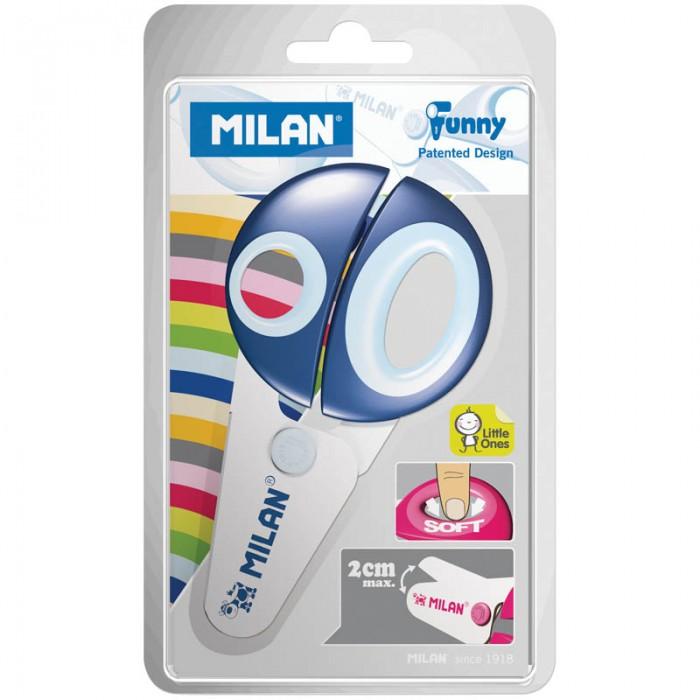 Канцелярия Milan Ножницы детские 12.2 см канцелярия milan ножницы soft 20 5 см