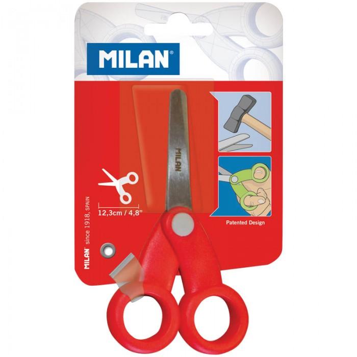 Канцелярия Milan Ножницы детские 12.3 см канцелярия milan ножницы soft 20 5 см