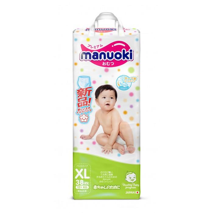 Manuoki Подгузники-трусики XL (12+ кг) 38 шт.