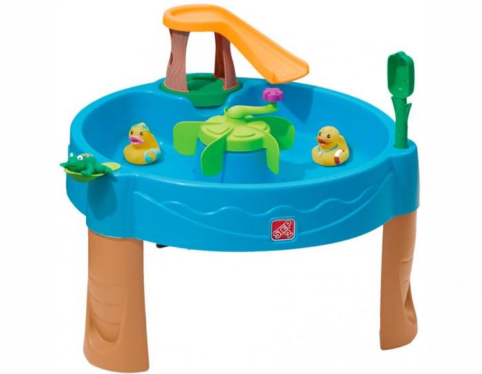 Step 2 Столик для игр с водой Весёлые утятаСтолик для игр с водой Весёлые утятаStep 2 Столик для игр с водой Весёлые утята для улицы и помещения.  Особенности: Игровая зона поднята на уровень рук ребенка, что создает комфортные условия игры.  В комплекте: горка, в середине стола вертушка-мельница, 1 катапульта, совок, резиновые утята 2 шт., резиновая лягушка 1 шт.  Вмещает 15 литров воды.<br>