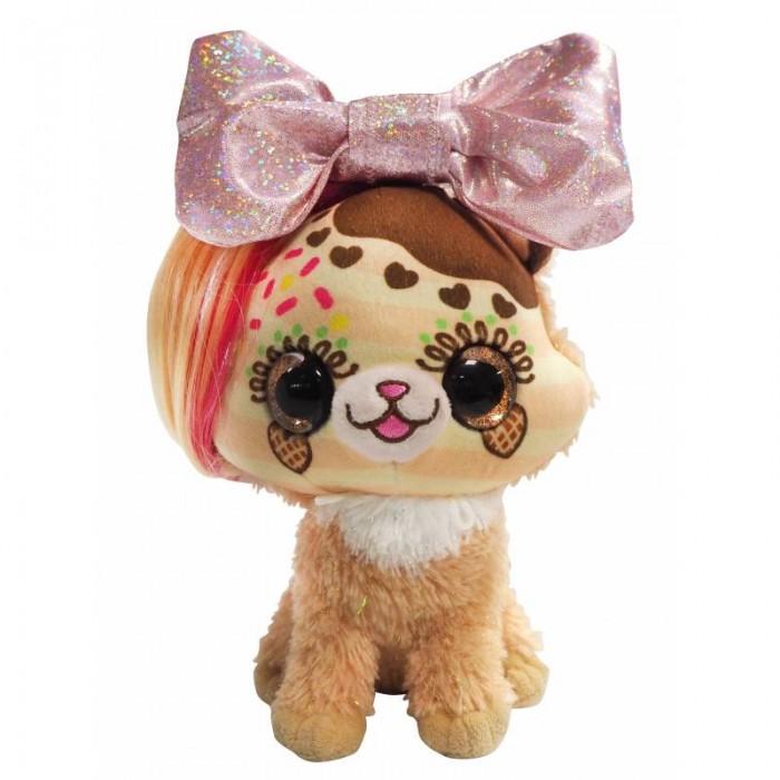 Мягкая игрушка Shokid Little Bow Pets котенок Sprinkle с бантиком сюрпризом 18 см