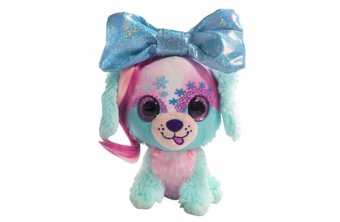 Мягкие игрушки Shokid Little Bow Pets щенок Frosty с бантиком сюрпризом 18 см