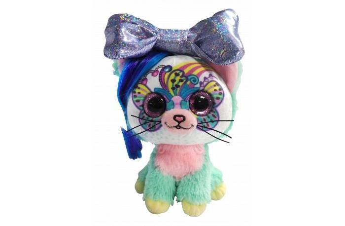 Мягкая игрушка Shokid Little Bow Pets котенок Rainbow с бантиком сюрпризом 18 см