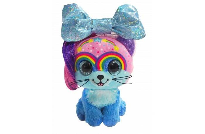 Мягкая игрушка Shokid Little Bow Pets котенок Twinkle с бантиком сюрпризом 18 см