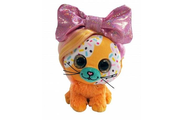 Мягкая игрушка Shokid Little Bow Pets котенок Butterscotch с бантиком сюрпризом 18 см