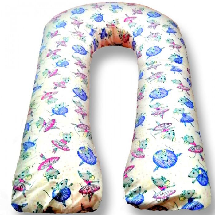 Купить Подушки для беременных, БиоСон Подушка для беременных U Мышки (поплин) 340х35