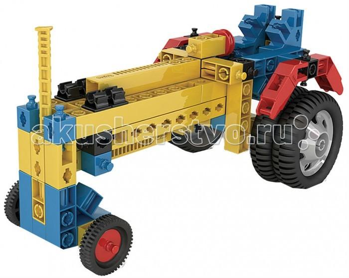 Конструктор Engino Mechanical Science Колеса и осиMechanical Science Колеса и осиEngino Mechanical Science Колеса и оси.  Узнай, как колеса используют трение, чтобы перемещать предметы без труда, как вращение колеса помогает передвигаться вокруг углов, а также как большие колеса соотносятся с маленькими. Собери 7 моделей, таких как трактор, мотоцикл, дверь, автомобиль с рулем и автоподъемник.   В набор входит диск с рабочей тетрадью на русском языке, для печати с описаниями новейших экспериментов и подробными объяснениями различных принципов механики, которые в них применяются, также прилагается брошюра с подробными инструкциями по сборке моделей.<br>