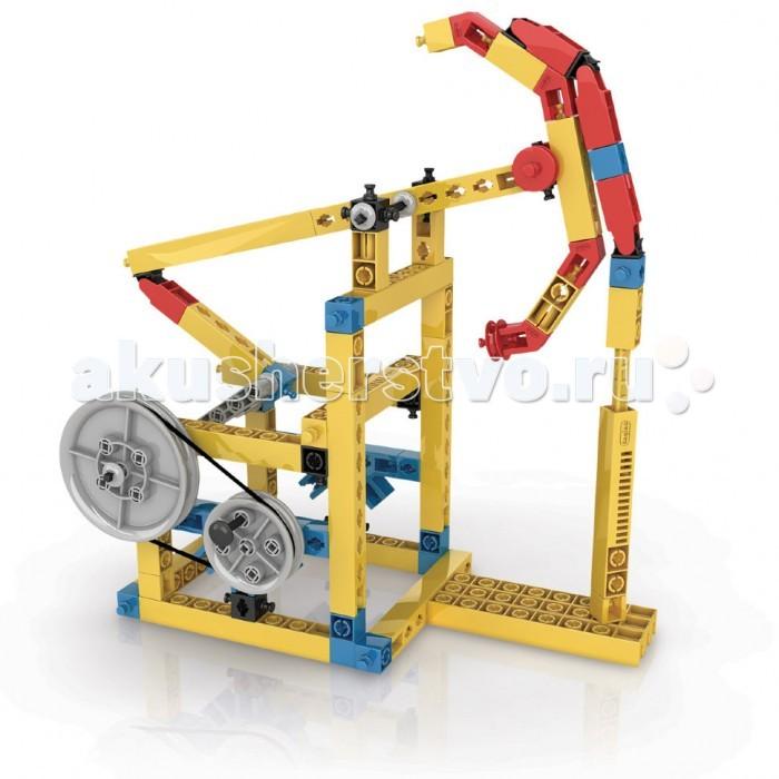 Конструктор Engino Mechanical Science Кулачки и кривошипыMechanical Science Кулачки и кривошипыEngino Mechanical Science Кулачки и кривошипы.  Узнай, как ты можешь передавать силу, используя кулачки и кривошипы, и как это использовать для превращения возвратного движения в Узнай, как ты можешь передавать силу, используя кулачки и кривошипы, и как это использовать для превращения возвратного движения в поступательное. Собери 5 моделей, таких как подъемный кран, нефтяной насос-качалка, летящий орел, швейная машинка и движущаяся фигура.   В набор входит диск с рабочей тетрадью на русском языке (для печати) с описаниями новейших экспериментов и подробными объяснениями различных принципов механики, которые в них применяются, также прилагается брошюра с подробными инструкциями по сборке моделей.<br>