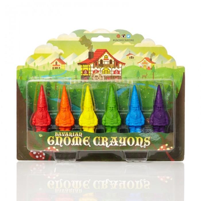 Карандаши, восковые мелки, пастель Gnome Crayons Восковые карандаши Гномы 6 цветов