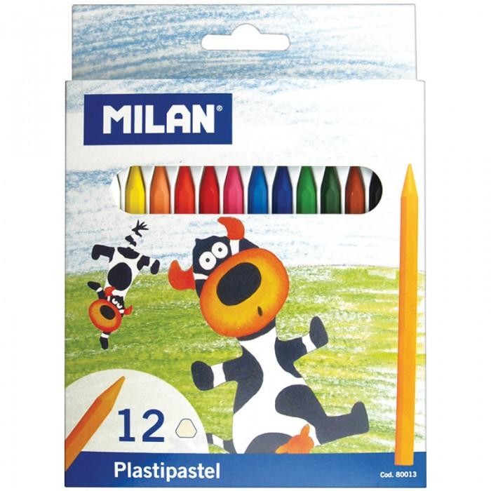 Карандаши, восковые мелки, пастель Milan Мелки Восковые 12 цветов карандаши восковые мелки пастель спейс карандаши зверята 12 цветов