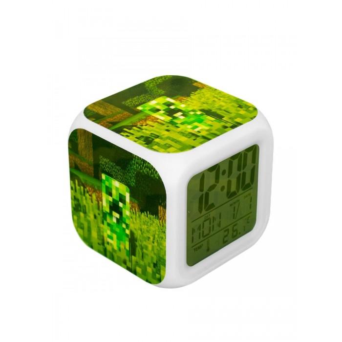 Картинка для Часы Pixel Crew будильник Крипер пиксельные с подсветкой №2