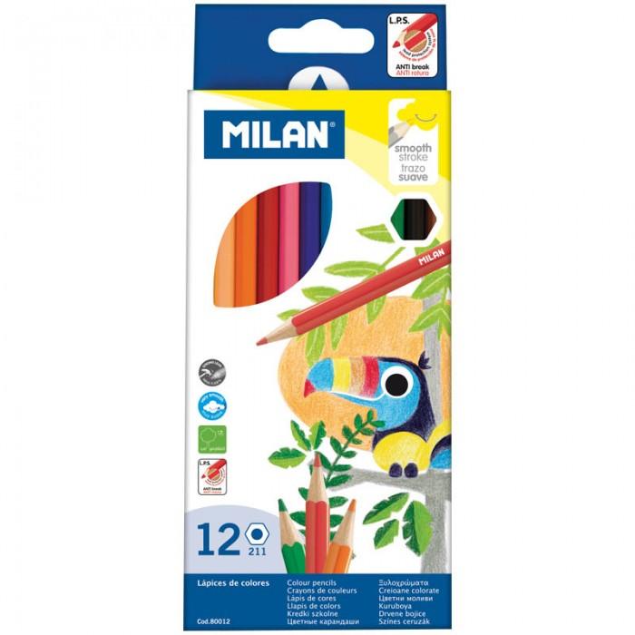 Карандаши, восковые мелки, пастель Milan Карандаши 211 12 цветов карандаши