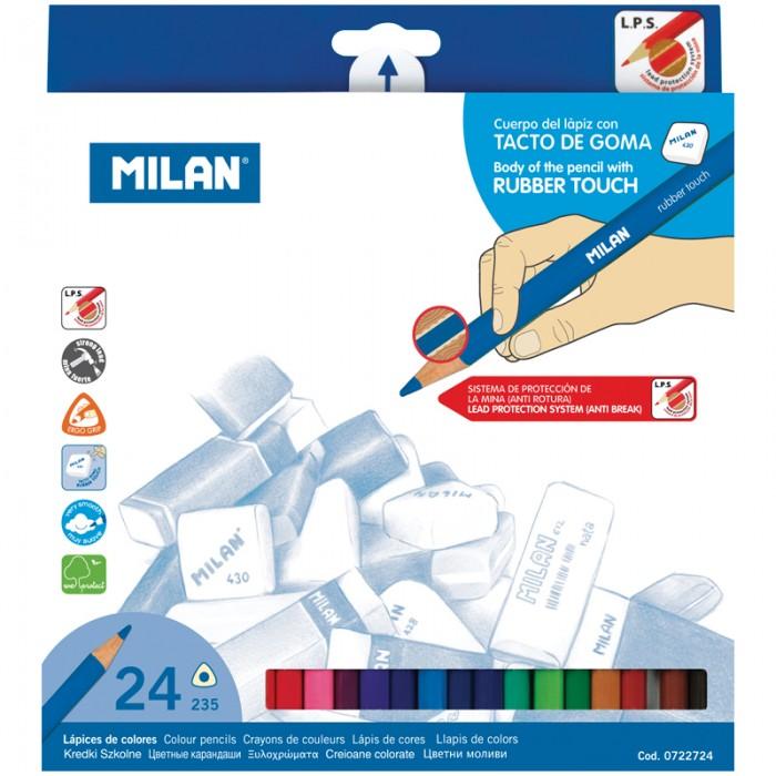 Карандаши, восковые мелки, пастель Milan Карандаши 235 24 цвета карандаши джунгли 24 цвета tz 4028