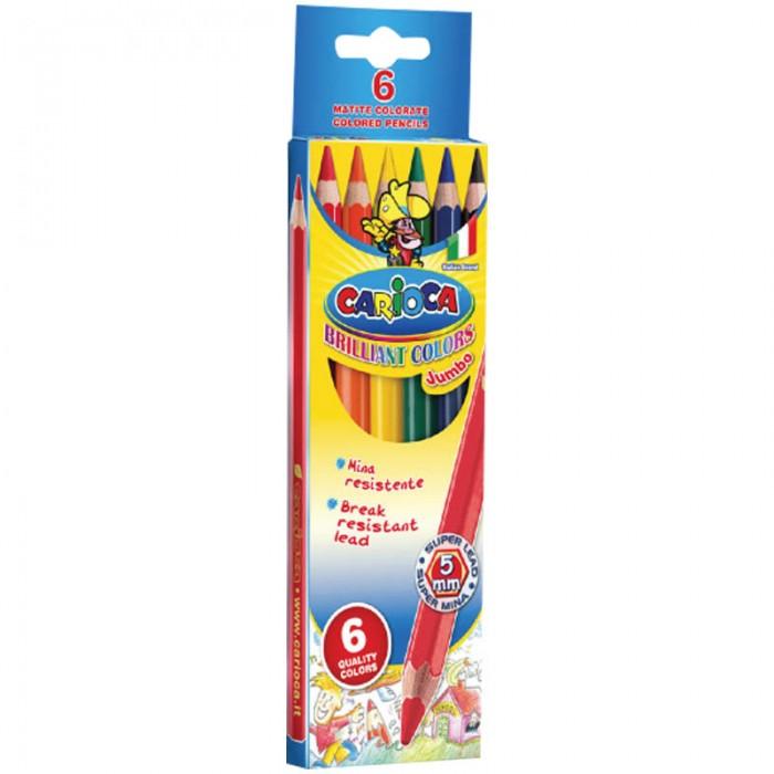 Карандаши, восковые мелки, пастель Carioca Карандаши Jumbo 6 цветов карандаши цветные трехгранные noris club jumbo 6 цветов 128nc6