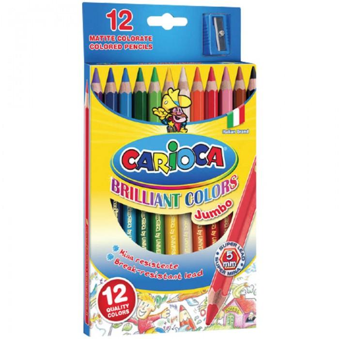 Карандаши, восковые мелки, пастель Carioca Карандаши Jumbo 12 цветов карандаши