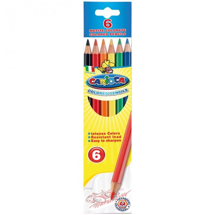 Карандаши, восковые мелки, пастель Carioca Карандаши 6 цветов фонарь maglite 2d синий 25 см в картонной коробке 947191