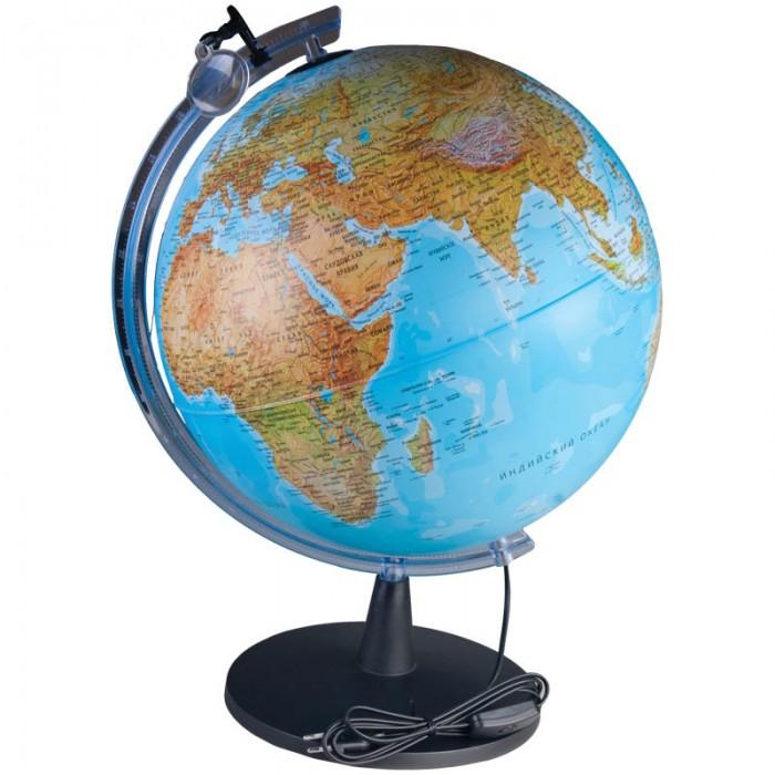 Развитие и школа , Глобусы Nova Rico Глобус физико-политический Falcon 40 см с подсветкой, с увеличительным стеклом арт: 122561 -  Глобусы