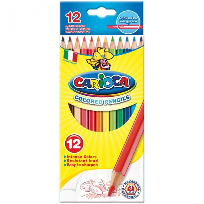 Карандаши, восковые мелки, пастель Carioca Карандаши 12 цветов фонарь maglite 2d синий 25 см в картонной коробке 947191