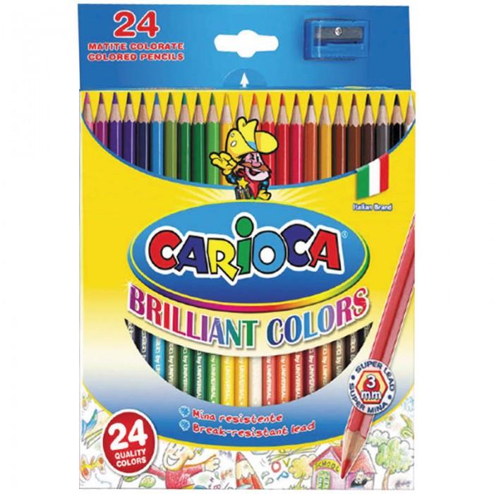 Карандаши, восковые мелки, пастель Carioca Карандаши 24 цвета карандаши джунгли 24 цвета tz 4028
