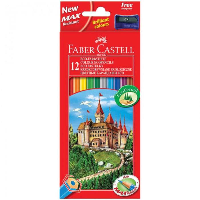 Карандаши, восковые мелки, пастель Faber-Castell Карандаши Eco Замок 12 цветов цена и фото