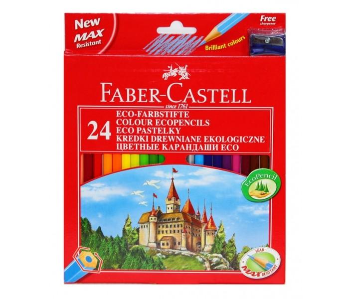 Карандаши, восковые мелки, пастель Faber-Castell Карандаши Eco Замок 24 цвета цена и фото