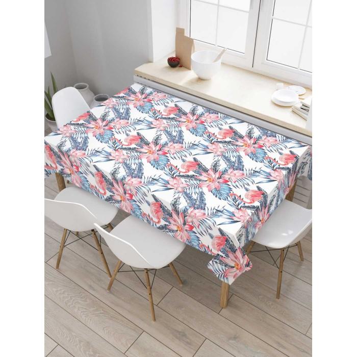 Товары для праздника JoyArty Скатерть на кухонный стол Тропический фламинго 145x120 см недорого